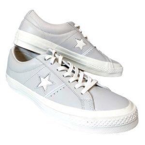 Converse leather one star piping low top sneakers
